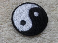 Ying Yang Iron On Patch by OrzoValentine on Etsy