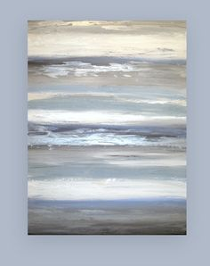 Blue and Gray Original Abstract Acrylic by OraBirenbaumArt on Etsy, $485.00