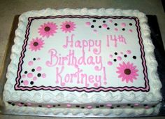 decorated sheet cakes - Google Search