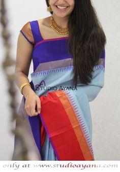 Hindolam - Handcrafted kanjivaram silk saree from Studio Ayana. #kanjivarams #silksaree #boutiquesaree #studioayana