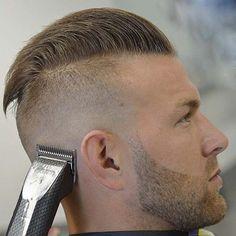 Mens Hairstyles With Beard, Slick Hairstyles, Funky Hairstyles, Hairstyles Haircuts, Military Haircuts Men, Haircuts For Men, Beard Haircut, Fade Haircut, Teenage Boy Hairstyles
