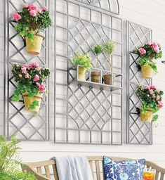 Stage your garden's prized flowering vines and vibrant florals against these classic designs from the New York Botanical Garden archives. Crafted of cast aluminum, this exclusive collection can be configured in multiple ways to enhance your garden or patio.