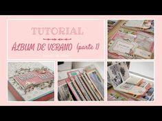 Tutorial Scrapbooking (parte 4): Album Veraniego. Decoración de Desplegables. - YouTube