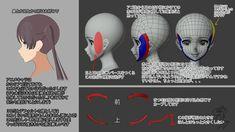 """大怪獣ささやん on Twitter: """"アニメキャラの横顔と3Dの横顔の問題に奮闘する男の物語  いずれnoteにどっさり書きます #YANcg… """" Character Modeling, 3d Character, Face Topology, Zbrush Models, Video Game Development, Modelos 3d, Body Anatomy, Face Tips, 3d Tutorial"""