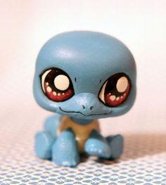 Squirtle Pokemon inspired Littlest Pet Shop by PiasLittleCustoms