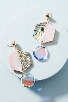 Shun Shell Drop Earrings
