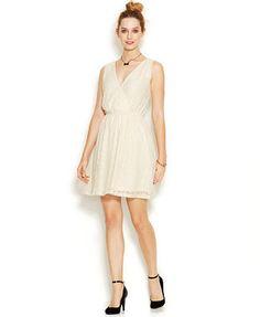 Maison Jules Sleeveless Surplice-Neck Metallic-Studded Dress