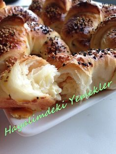 6 Katlı Poğça Tarifi | Resimli Yemek Tarifleri Hayalimdeki Yemekler Pasta Recipes, Cooking Recipes, Savory Pastry, Recipe Mix, Bread And Pastries, Turkish Recipes, Food Labels, Food And Drink, Favorite Recipes