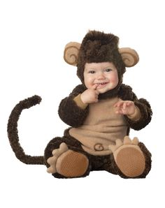 baby monkey costume---cute I need to get this for his first halloween :))