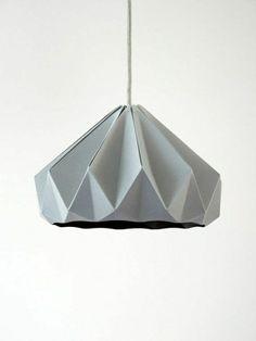 origami lampenschirm anleitung papier falten grau