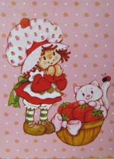 Strawberry Shortcake Vintage ❤ Strawberry shortcake with Custard Strawberry Shortcake Cartoon, Strawberry Shortcake Birthday, Hello Kitty, Tarjetas Diy, Dibujos Cute, Rainbow Brite, Holly Hobbie, 80s Kids, Vintage Cartoon