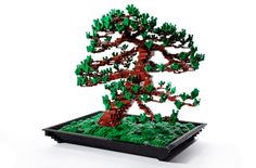 LEGO Bonsai.  Don't want to worry about a live bonsai?  Make your own, but this isn't a kit, just an idea.