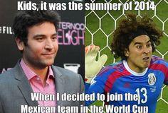 Les enfants, c'était l'été 2014, quand je décidai de rejoindre l'équipe du Mexique pour la coupe du Monde.