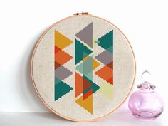 modern cross stitch pattern Geometric Cross от AnimalsCrossStitch