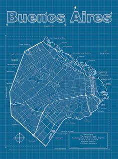 Mapa artístico de Buenos Aires by MapHazardly