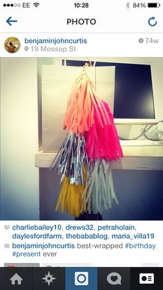 Tassels... Just crate paper and a bit of time