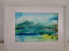 Paisagem, aguarela Painting, Art, Happy, Watercolour, Landscape, Blue Nails, Art Background, Painting Art, Kunst