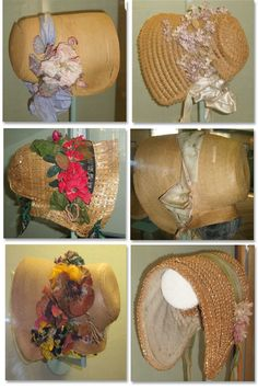 These historic bonnets are from the Old Sturbridge Village Collection