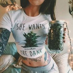 Ft @whatashleydoes in her She Wants the DANK tee Thank you for the support bb! Shop #marijuanamodels & #kushcommon at the link in my bio!