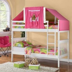 white bunk bed with tent Houston
