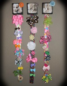 cute for a little girls room to hold their hair clips/ribbons