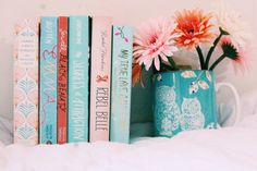 "astreeeaneee: "" Tangerine and Tiffany Blue Books """