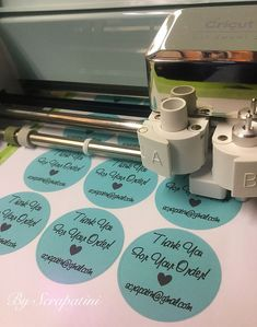 Print & cut sticker made with Cricut Explore Air 2 By Scrapatini