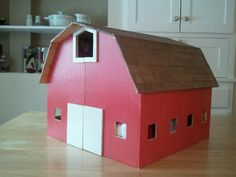 Plans for DIY stable for My little ponies or other toy horses.  My dad made this for my L for Christmas