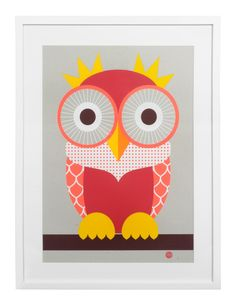 The good life. Red #owl print.