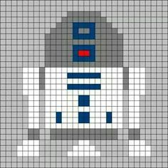 Can be used for a crochet pixel blanket. Crochet Pixel, Star Wars Crochet, Crochet Chart, Crochet Pattern, Crochet Cross, Quilt Pattern, Knitting Charts, Knitting Stitches, Knitting Patterns