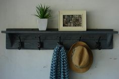 coat rack - colored stain or whitewash for cottage appeal