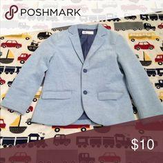 Boy's Powder Blue Blazer Thick, tweed-feel blazer, pocket flaps, 2-button front, lined H&M Jackets & Coats Blazers
