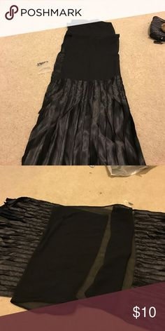 Black wrap Black dresses scarf/ wrap see  though lace with pleats on each  end nice for parties wedding . Very beautiful as is. cejan Accessories Scarves & Wraps