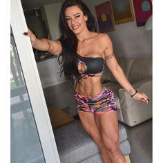 SEXY SUPER RIPPED DREAM BODY of tattooed Brazilian WBFF Pro Diva #Fitness Model…