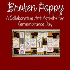 Remembrance Day Collaborative Art Activity by The Art of Education Remembrance Day Activities, Remembrance Day Art, Art Programs, Collaborative Art, Art Activities, Student Work, Art Lessons, Teaching, Education