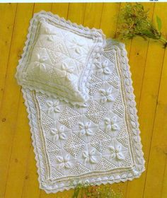 PDF Baby KNITTING PATTERN Knitted Shawl/Afghan/Blanket and matching Pillow on Etsy, $1.82 AUD