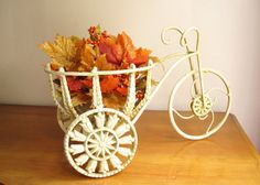 Vintage Tricycle Planter Dark Ivory Bike by DewyMorningVintage, $30.00