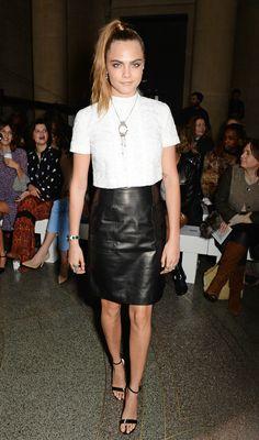 At the Topshop Unique Show at London Fashion Week.   - ELLE.com