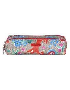 Funky Flowers Pencil Case in Sand