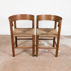 Pair of side chairs by Mogens Lassen for Fritz Hansen