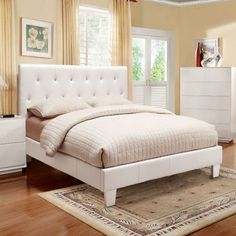 Mantua Modern Style White Finish Queen Size Leatherette Bed Frame Set 247SHOPATHOME http://www.amazon.com/dp/B00FL9DMTQ/ref=cm_sw_r_pi_dp_Jxfbvb0QA365F