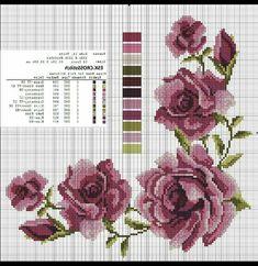 💞💞💞 Xmas Cross Stitch, Cross Stitch Rose, Cross Stitch Alphabet, Cross Stitch Flowers, Cross Stitching, Cross Stitch Embroidery, Modern Cross Stitch Patterns, Cross Stitch Designs, Bargello Patterns