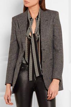 SAINT LAURENT Angie wool-tweed blazer