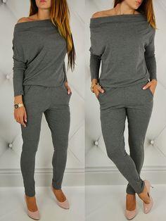 Fashion Sexy Off Shoulder Slim Jumpsuit
