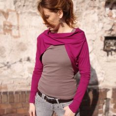 Womens Pink Long Sleeve Shrug Bolero also in par bevisible sur Etsy, €31,00