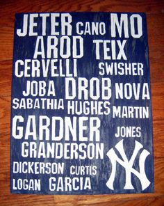 ..all yankees lined up