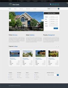 Real Estate Template For Website