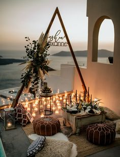 Santorini Greece Elopement with planning + design by Tie the Knot Santorini Europe Wedding designers. Tie the knot Santorini team is based in Greece and would love to design your wedding anywhere in the world! The Knot, Bohemian Wedding Decorations, Boho Wedding, Wedding Set Up, Elopement Wedding, Wedding Dinner, Wedding Stage, Trendy Wedding, Fall Wedding