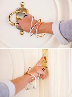 Woah, Cool! How To Bend Metal Into Stacking Geometric Bangles via Brit + Co.