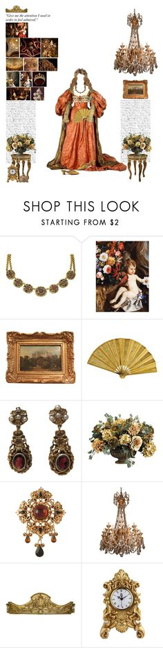 """""""Leo:Baroque Era"""" by thisworldistoobeautiful1139 ❤ liked on Polyvore featuring Dolce&Gabbana, Susan Caplan Vintage, Chandelier, Laurence Llewelyn-Bowen and JULIANNE"""